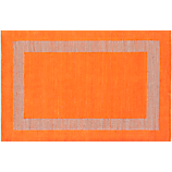 double text orange rug 6'x9'