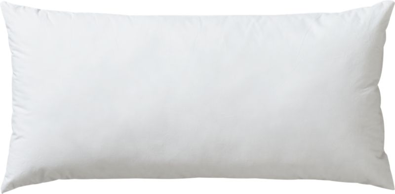"down alternative 23""x11"" pillow insert"