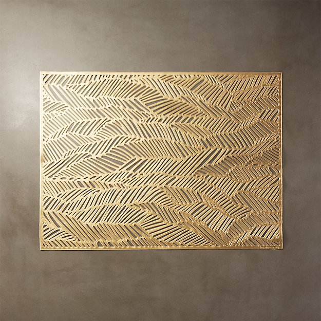 Chilewich ® drift brass placemat
