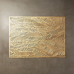 Chilewich ® drift brass placemat