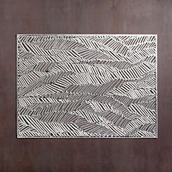Chilewich ® drift silver placemat