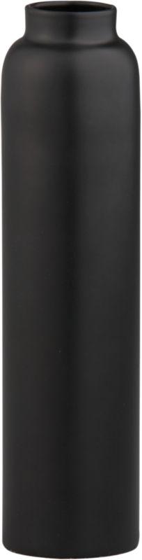 "<span class=""copyHeader"">bottle neck.</span> Sleek iron bottle enameled matte black pedestals a single flicker. Mix metals with bronn taperholder matte brass medium and kalisi taperholder yellow small.<br /><br /><NEWTAG/><ul><li>Iron</li><li>Matte black enamel</li><li>Accommodates one taper candle, sold separately</li></ul>"