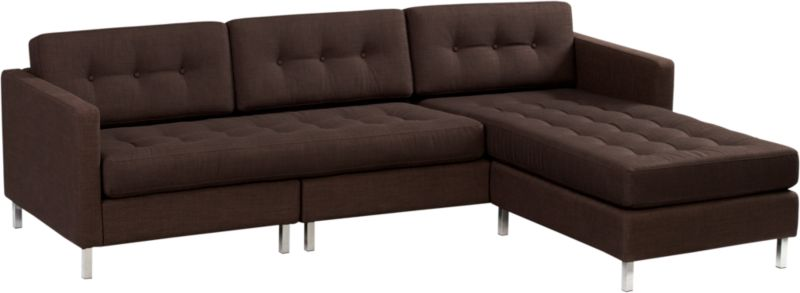 dual chocolate button sectional