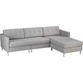 dual pebble button sectional
