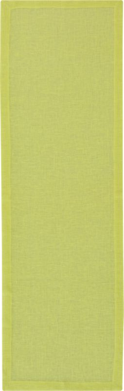 duo chartreuse linen placemat for two