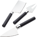 3-piece cheese knife set
