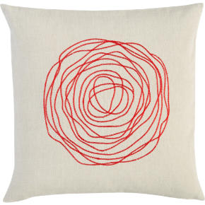 ebb red 16 pillow