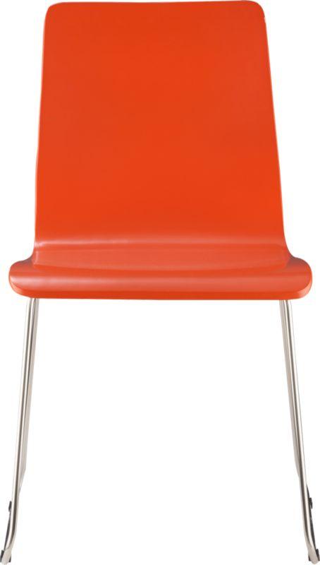 echo orange chair