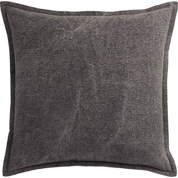"""eclipse charcoal 20"""" pillow"""