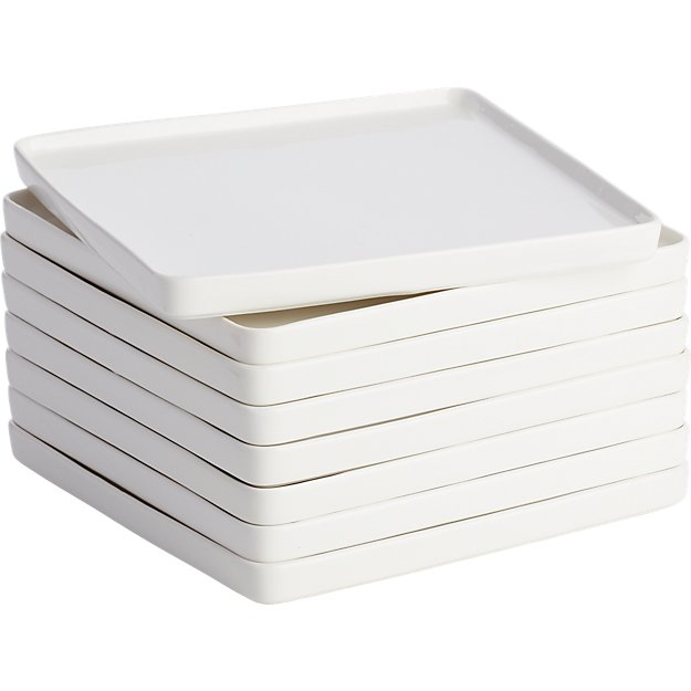set of 8 edge salad plates
