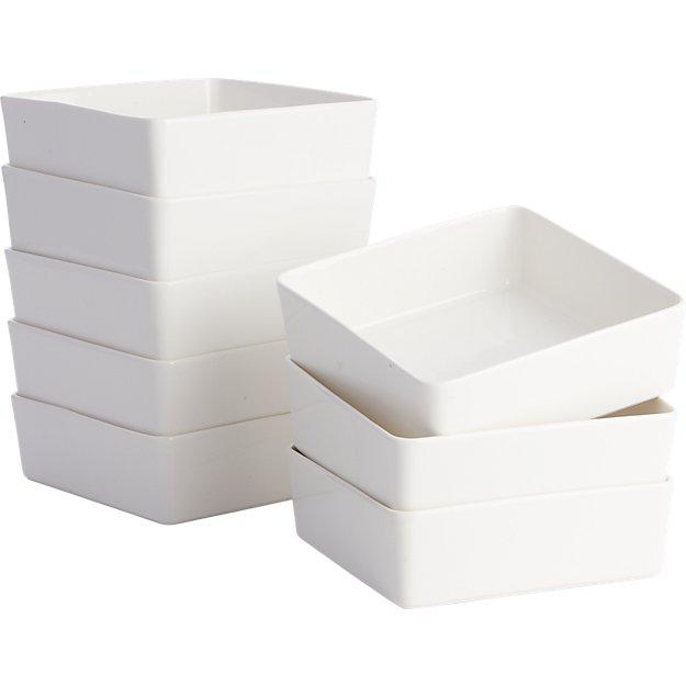 set of 8 edge soup bowls