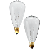 set of 2 edison string light bulbs