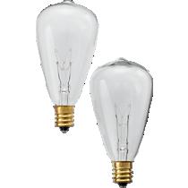 set of 2 edison string light bulbs