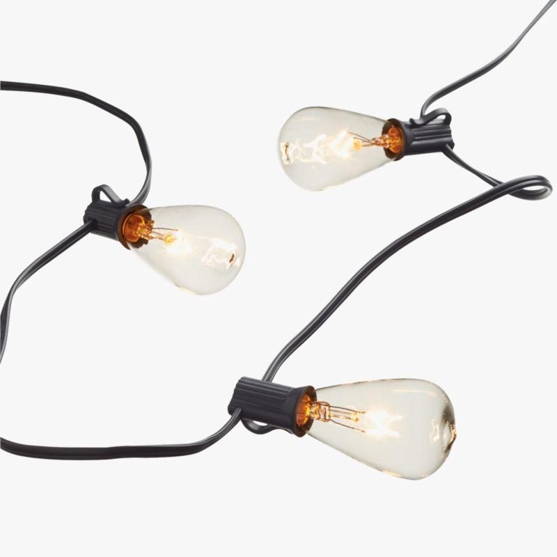 Edison Type String Lights : edison string lights CB2