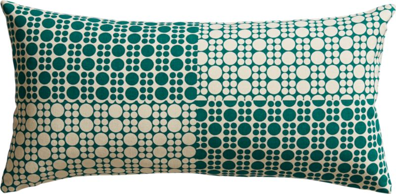 "effervescence 23""x11"" pillow with down-alternative insert"