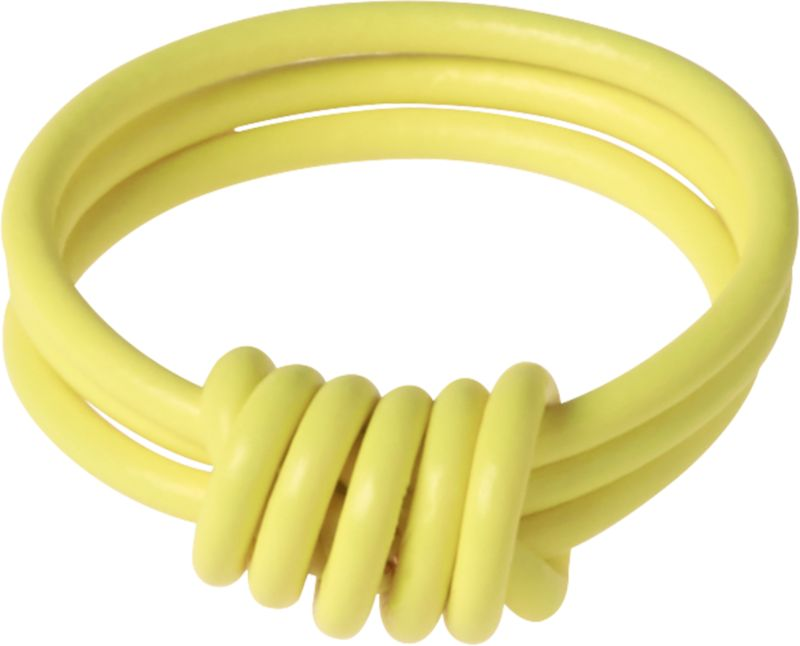 electric yellow love ring