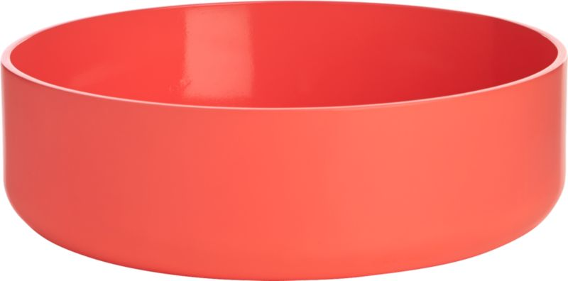 electric neon peach serving bowl