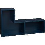 elston navy blue modular shelf