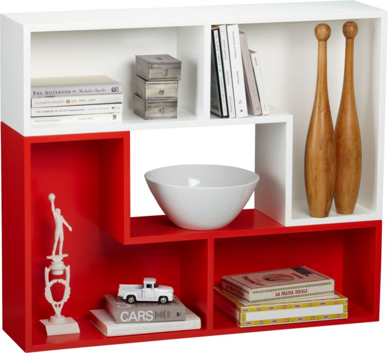 elston white modular shelf