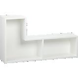 elston white modular shelf