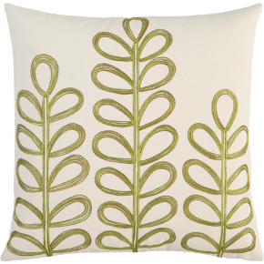 embroidered botanical 18 pillow