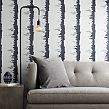 emmett silver and grey stripe traditional paste wallpaper