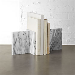 endiron marble bookends set of two