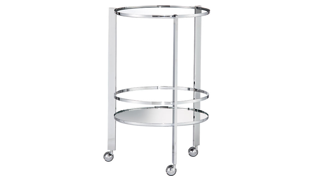 ernest chrome bar cart