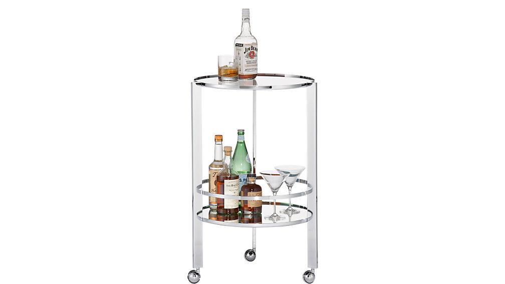 ernest chrome bar cart