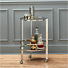 ernest chrome bar cart.