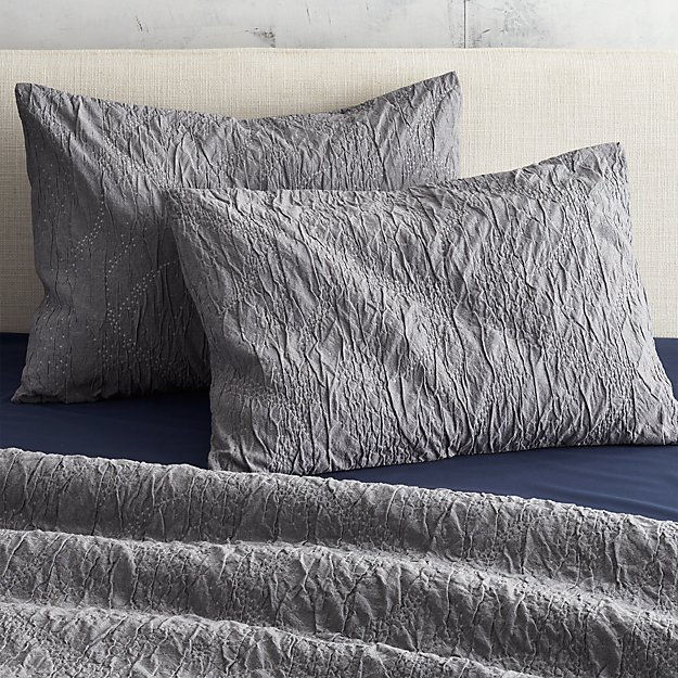 set of two estrela matelasse standard shams
