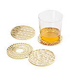 etch gold coasters set of four