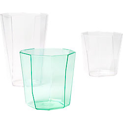 facet acrylic barware