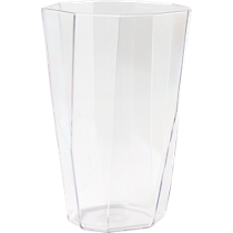 facet clear acrylic cooler