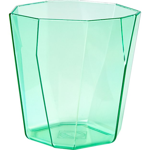 facet aqua acrylic double old-fashioned
