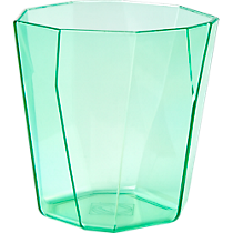 facet aqua acrylic double old-fashioned