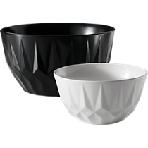 facet serving bowls