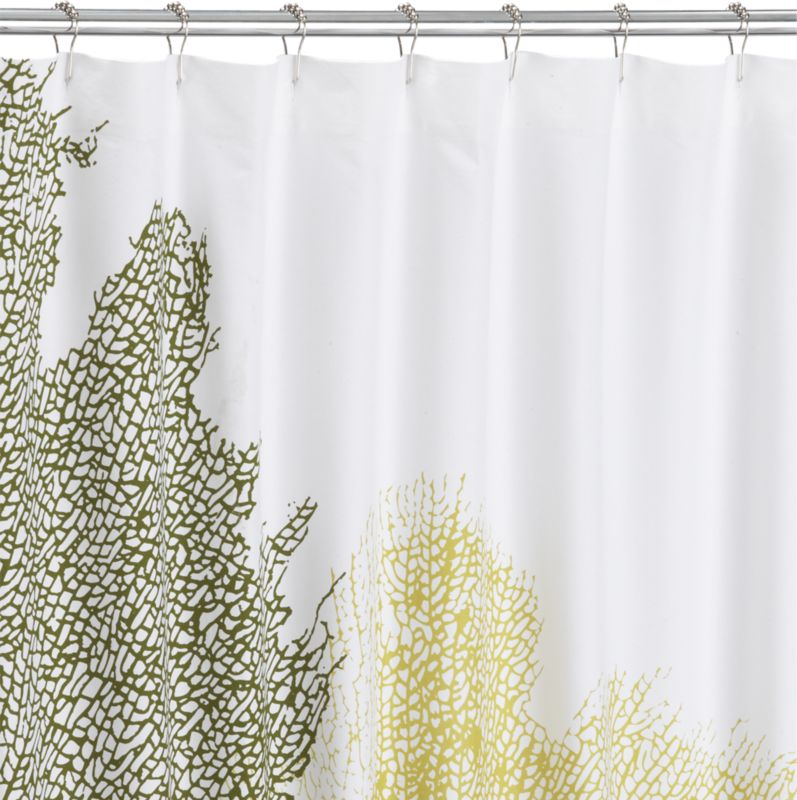 fan coral shower curtain