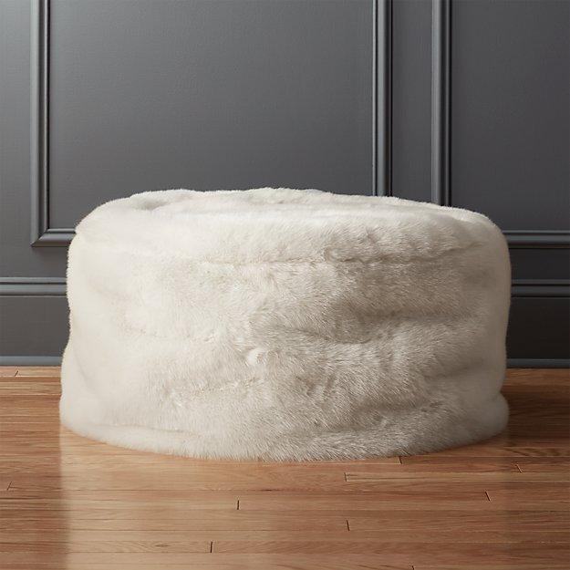 Faux Fur Pouf Cb2