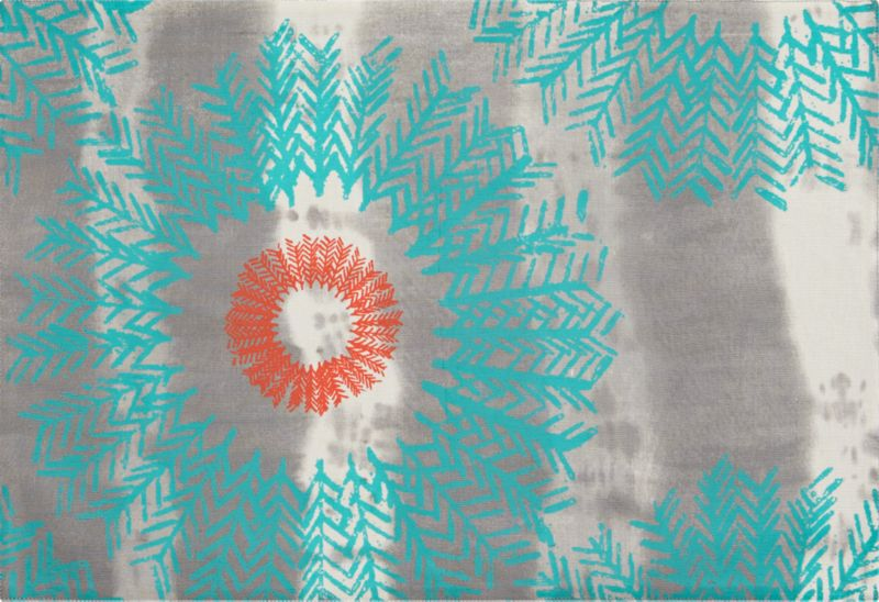 feather burst placemat
