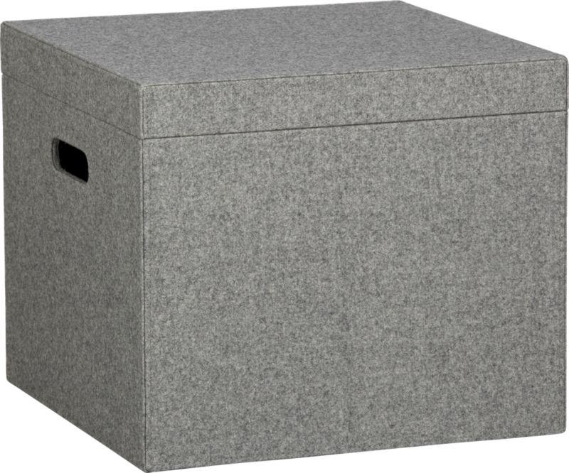 grey felt file box