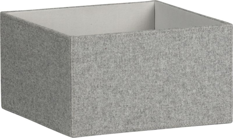 grey felt open storage box