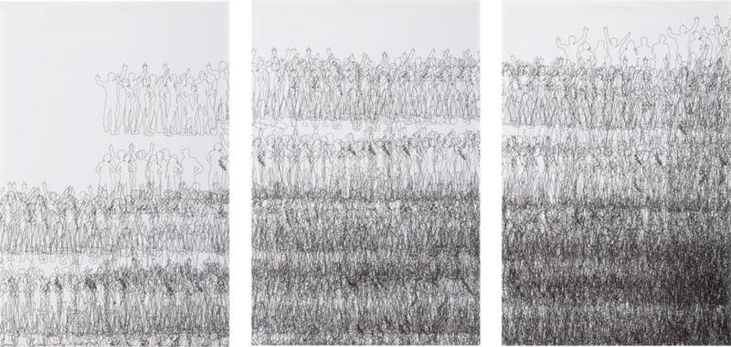 set of 3 figurative change prints