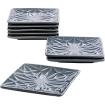 set of 8 flake gray party-appetizer plates