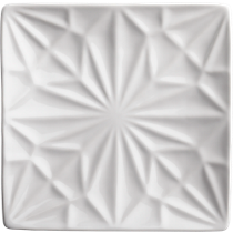 flake white party-appetizer plate