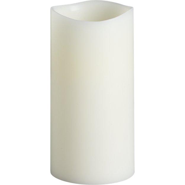 """flameless 3""""x6"""" LED pillar candle"""