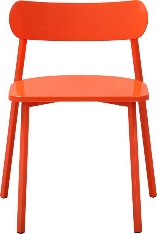 fleet hot orange chair