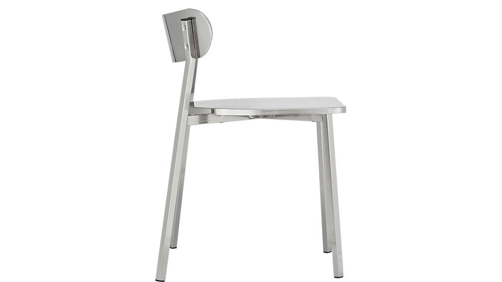 fleet brushed nickel chair