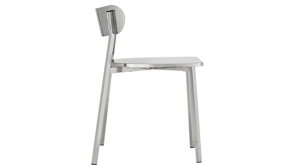 fleet brushed nickel chair