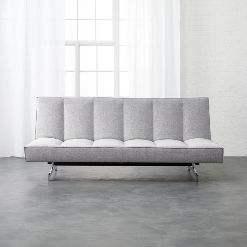 Flex Microgrid Grey Sleeper Sofa Dess Microgrid Cb2